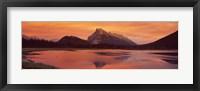 Framed Mt Rundle & Vermillion Lakes Banff National Park Alberta Canada