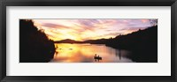 Framed Sunset Saranac Lake Franklin Co Adirondack Mtns NY USA