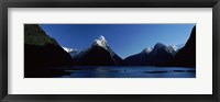 Framed Lake at Milford Sound, South Island, New Zealand