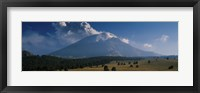 Framed Clouds over a mountain, Popocatepetl Volcano, Mexico