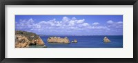 Framed Panoramic View Of A Coastline, Southern Portugal, Algarve Region, Lagos, Portugal
