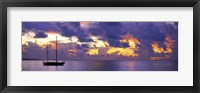 Framed Sunset Moorea French Polynesia