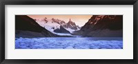 Framed Mountains covered in snow, Laguna Torre, Los Glaciares National Park, Patagonia, Argentina