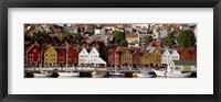 Framed Harbor in Bergen, Norway