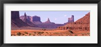 Framed View To Northwest From 1st Marker In The Valley, Monument Valley, Arizona, USA,