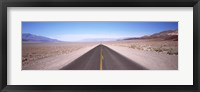 Framed USA, California, Death Valley, Empty highway in the valley