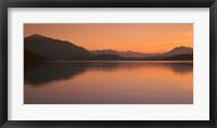 Framed Lake Zug in the Evening Mt Rigi & Mt Pilatus  Switzerland