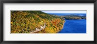 Framed Mount Jordan Pond, Acadia National Park, Maine, USA