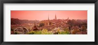 Framed Dusk Bern Switzerland