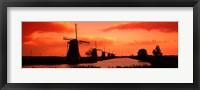 Framed Windmills Holland Netherlands