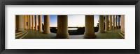 Framed Jefferson Memorial Columns, Washington DC