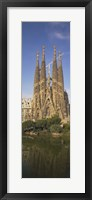 Framed Low Angle View Of A Cathedral, Sagrada Familia, Barcelona, Spain