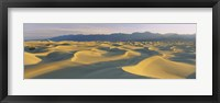 Framed Sand dunes in a desert, Grapevine Mountains, Mesquite Flat Dunes, Death Valley National Park, California, USA
