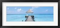 Framed Beach & Pier The Maldives