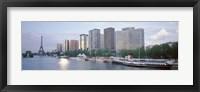 Framed Skyscrapers near a river, Paris, France