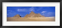Framed Great Pyramids, Giza, Egypt