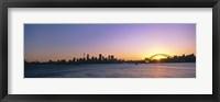 Framed Sunset Over the Bridge, Sydney, Australia