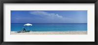 Framed Beach Scene, Nassau, Bahamas