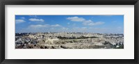 Framed Ariel View Of The Western Wall, Jerusalem, Israel