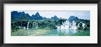 Framed Detian Waterfall, Guangxi Province, China