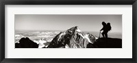 Framed Hiker, Grand Teton Park, Wyoming, USA
