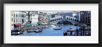 Framed Rialto Bridge & Grand Canal Venice Italy
