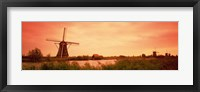 Framed Windmill, Kinderdigk, Netherlands