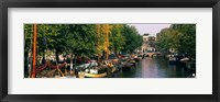Framed View of a Canal, Netherlands, Amsterdam