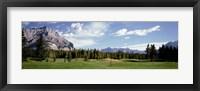 Framed Golf Course Banff Alberta Canada