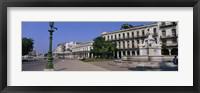 Framed Sculpture in front of a building, Havana, Cuba