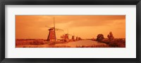 Framed Windmills in Holland (Sepia)
