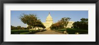 Framed Capitol Building, Washington DC, District Of Columbia, USA