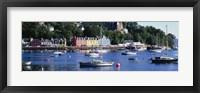 Framed Boats docked at a harbor, Tobermory, Isle of Mull, Scotland