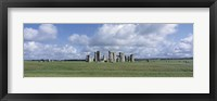 Framed England, Wiltshire, View of rock formations of Stonehenge