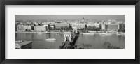 Framed Chain Bridge Over The Danube River, Budapest, Hungary