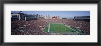 Framed Football, Soldier Field, Chicago, Illinois, USA