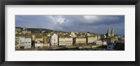 Framed High Angle View Of A City, Grossmunster Cathedral, Zurich, Switzerland