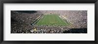 Framed Aerial view of a football stadium, Notre Dame Stadium, Notre Dame, Indiana, USA