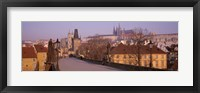 Framed View Of Houses Along The Charles Bridge, Prague, Czech Republic