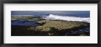 Framed Rock formations at the coast, Fernandina Island, Galapagos Islands, Ecuador