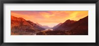Framed Sunset Over Waterton Lakes National Park, Alberta, Canada