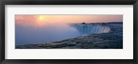 Framed Sunrise Horseshoe Falls Niagara Falls NY USA