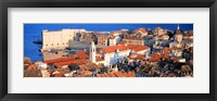 Framed Aerial View, Old Town, Dubrovnik, Croatia