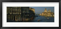 Framed High angle view of boats in a canal, Santa Maria Della Salute, Grand Canal, Venice, Italy