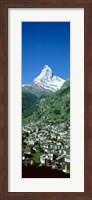 Framed Zermatt, Switzerland (vertical)