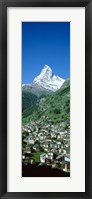 Framed Zermatt, Switzerland (vertical)