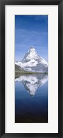 Framed Matterhorn, Zermatt, Switzerland (vertical)