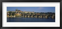 Framed Bridge across a river, Charles Bridge, Vltava River, Prague, Czech Republic