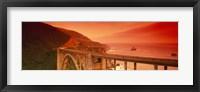Framed High angle view of an arch bridge, Bixby Bridge, Big Sur, California, USA