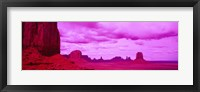 Framed Rock Formations with Purple Clouds, Monument Valley, Arizona, USA